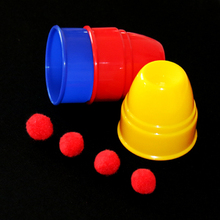 Hot sale  small size cups and balls for children magic sets magic tricks