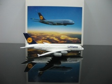 Out of print Herpa 1:1000 Lufthansa Airbus A380-800 D-AIMA Alloy plane model Collection model(China)