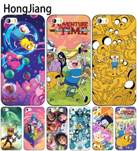 HongJiang Adventure Time cell phone Cover case for iphone 6 4 4s 5 5s SE 5c 6 6s 7 8 plus case for iphone 7 X(China)