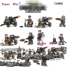 World War 2 ww2 Gudi 8009 Fire Wire Militray Army Weapons Model Building Blocks Brick toys for children(China)