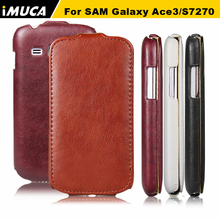 IMUCA Luxury Leather Case for Samsung Galaxy Ace 3 gt-S7270 S7272 s7275 case cover Flip Pouch Smartphone Protective Cases(China)