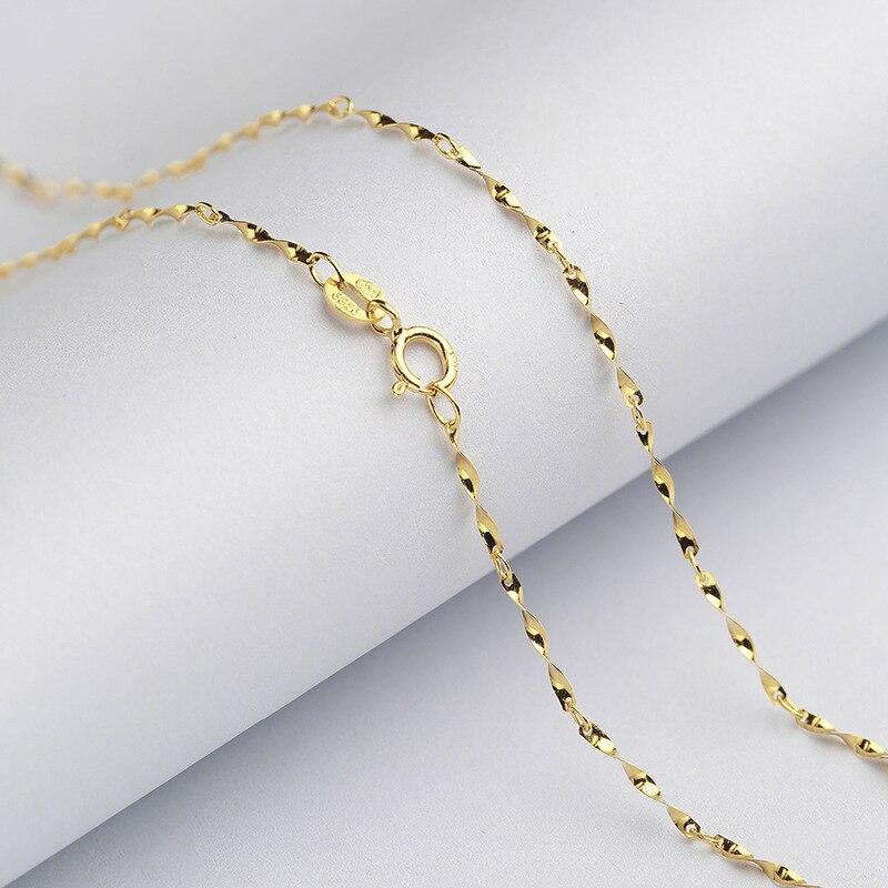 Offre spéciale 5PCS design simple argent Rolo Chaîne Collier 16-24 in