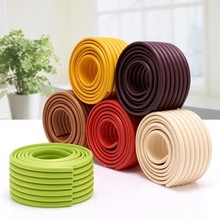 Baby Safety Products Baby Crash Bar Thickening Crash Bar Glass Coffee Table corner protector Child Protection Strip 10 Colors(China)