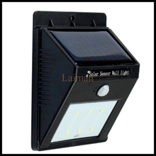 High quality 6 LED Solar Power PIR Motion Sensor Light Outdoor Garden Wall Lamp IP55 Lawn lamps Landscape lights(China)