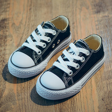 Solid Color Canvas Children Casual Shoes Classic Kids Canvas Sneakers High Top Toddler Boys Girls School Shoes