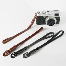 Black/Brown PU nylon & leather Camera Wrist Hand Strap Grip for Canon Sony Nikon L3FE(China)
