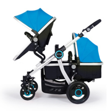 High Quality Twins Baby Stroller Aluminum Pram Twins High Landscape Shockproof Portable Twin Stroller Pushchairs Car Seat