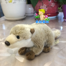 Kawaii Plush Mink Doll Simulation Animals Toy Light Coffee Otter Kids Toys Birthday Gifts(China)