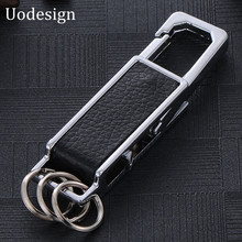 Creative Men Chrysler keychain key chain Leather keychain Key Ring Car Key Chains For Men 2017 Silver Plated Key