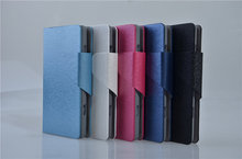 Hot Sale Luxury High Quality PU Leather Flip Silk Case Cover For Samsung Omnia 7 I8700 via China Post Registered Air Mail