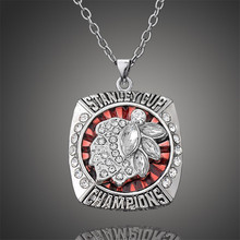 2013 Stanley Cup Finals Replica Chicago Blackhawks Pendant Necklace Men Jewelry Souvenir D00342(China)