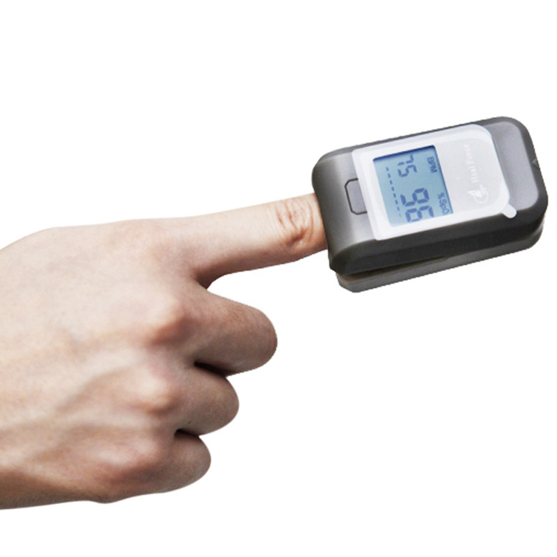 Heal Force Oximeter Digital Fingertip Pulse Heart Rate Tester Finger Blood Pulse Rate Heart Rate Monitor Health Care Portable<br>
