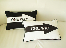 2 styles ONE WAY Cushion Covers 30X50cm Road Sign Black and White Pillow Cases Bedroom Decoration Free Shipping