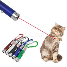kebidumei 3 in 1 Mini Red Laser Pointer Pen LED Flashlight Show Funny Pet stick Childrens Cat Toy Money Detector Pen Torch