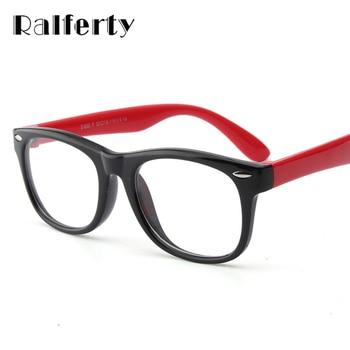 Ralferty Infantil Bebê Crianças TR90 Armações de Óculos Criança Óculos de Segurança Com Lente Clara, macia e Flexível Estrutura Óptica Para óculos de Miopia