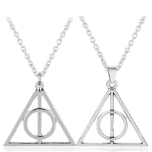 Buy Ravebclaw Luna Death Hallows Triangle Round Pendant HP Retro Accessories HP Pendant Necklace Women Men Accessories-30 for $1.05 in AliExpress store