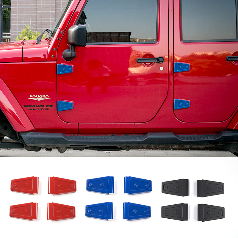 MOPAI Car Exterior Door Hinge Cover And Engine Hood Hinge Cover Decoration Stickers Fit For Jeep Wrangler 2007 Up Car Styling<br>