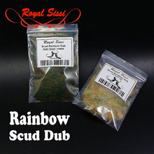 Newest 2styles rainbow scud dubbin light&Dark shade nymph dubbing fly tying material for trout flies special for wet fly fishing