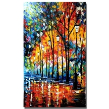 Chinese  Oil Painting 100% Hand-painted Modern Design Knife  Canvas Painting Landscape Oil Paintings On Canvas Big Size Pictures
