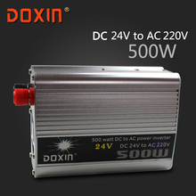 DC / AC 24V To 220V 500 Watt Auto Car Power Inverter Inversor Car Chargers Wechselrichter Universal Socket  DOXIN ST-N010