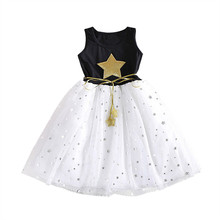 Summer Girl Dress School Wear Tulle Tutu Gown Vestido For Baby Party Frocks Infantil Children Clothing Girl Little Star Dresses