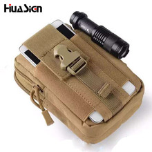 Men's Military EDC Waterproof Nylon Waist Fanny Pack Belt Bag Travel hip Pouch Bag