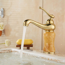 PVD Vacuum Coating Jade Basin Faucet Brass Mixer Cold and Hot Kitchen Faucet Zirconium Gold Bathroom Faucets Water Tap Torneira