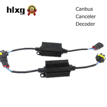 2PCS H4 H7 LED Headlight Canbus Wiring Kit Computer Warning Error Free Anti Flicker Resistor Canceler Decoder(China)