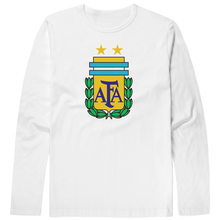2017 Hot sales Argentina T Shirts Edgar Mr Lionel Messi Carlos printing Long Sleeve Anciana Fans Club Cotton tshirt Tops(China)