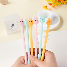 Free Shipping Creative Kawaii Rabbit Gel Pen Jelly Color Roller Ball Pen Gift for Children School Suppliers Novelty Stationery(China)
