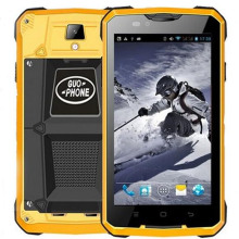 "Original GUOPHONE V12 Waterproof Phone 5.0"" MTK6572 Dual Core Android 4.4 Phone 3G WCDMA GPS 5MP 4000mAh Big Battery"