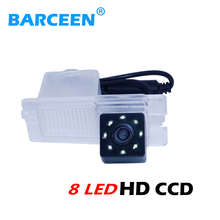 colorful night vision+8 bright led lights+plastic shell+ccd image car rear reversing camera for SsangYong Actyon/Korando/Rexton(China)