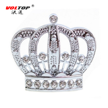 VOLTOP 3D Diamond Crown Car Stickers Sliver Crown Empress Auto Moto Sticker Car Styling Women's Car Body Decoration Accessories(China)