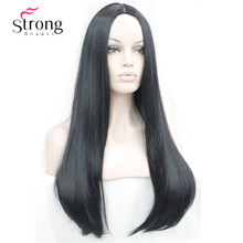 26 inches Women's Wig Long Straight Synthetic Cosplay Costume Hair Wigs COLOUR CHOICES(China)