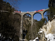Engadin Valley Swiss Alps Train Bridge Around the World Art Huge Print Poster TXHOME D6203