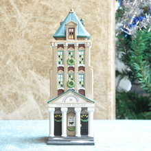 D56 Stock Exchange Model Ceramic Handcrafts American Style Porcelain Light House Craft Home Decoration(China)