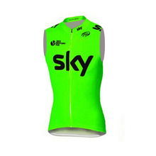 SKY Fluor Pro Sleeveless Vest Cycling Jersey Ropa Ciclismo Bike Cycle shirt MTB Bike Clothing ciclismo Bicycle Sportwear E0301