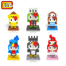 LOZ Diamond Building Toy Blocks Hello Kitty Toys Animal Series Cute Anime Figures Models Hobbies Offical Authorized Distributer