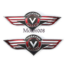 Chrome ABS 3D Fuel Gas Tank Badge Emblem Decal Sticker For Kawasaki Vulcan Bikes(China)