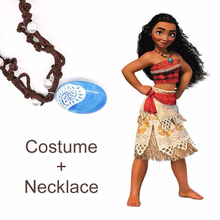 Movie Princess Moana Costume for Kids Moana Princess Dress Cosplay Family Match Children Halloween Costume for Girls Party Dress(China)