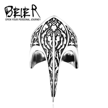 BEIER Unique Punk Armor Long Vintage Stainless Steel Weapon Jewelry Animal Ring BR8-296