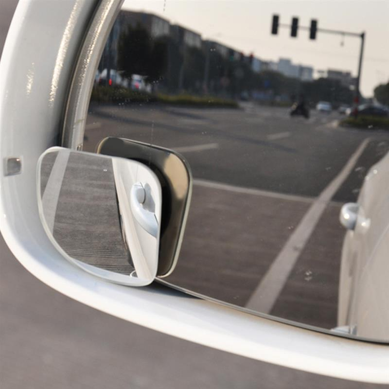 Onever Blind-Spot-Mirror Car-Rear-View-Mirror Frameless Wide-Angle Convex Auto 360-Degree title=