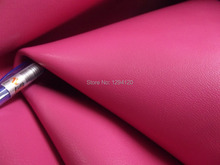 Popular Rose Pink Genuine Goat Leather Piece Fabric Material 1.2MM,Free Shipping(China)