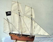 NIDALE Model Classic French royal fleet sail boat model the le COUREUR 1776 gaff ship model kits Christmas gift(China)