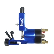 Newest NEDZ Rotary Tattoo Machine Blue Aircraft Aluminium Tattoo Machine Gun For Shader And Liner  Free Shipping TM-555C