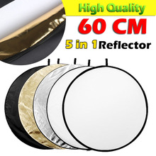 "ASHANKS Flash Photo Studio porta retrato Collapsible Light  60CM  23"" Round Reflector Golden Silver White Black Translucent"