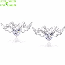angel wings champagne zircon queen girl shine summer earrings 50019