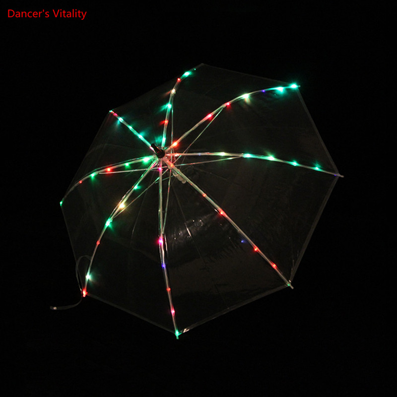 New Belly Dance LED Umbrella With Flashing Belly Dance Accessories Stage Performance Prop Shining Led Light
