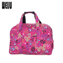 WEIJU Printing Travel Bag Women 2017 New Large Capacity Hand Luggage Duffle Bag Casual Traveling Shoulder Bags YR0353