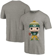 New Style Men's Summer T-Shirt, Packers Fans Green Bay 12 Aaron Rodgers Cartoon Figure Picture Printing Classical O-neck T Shirt(China)